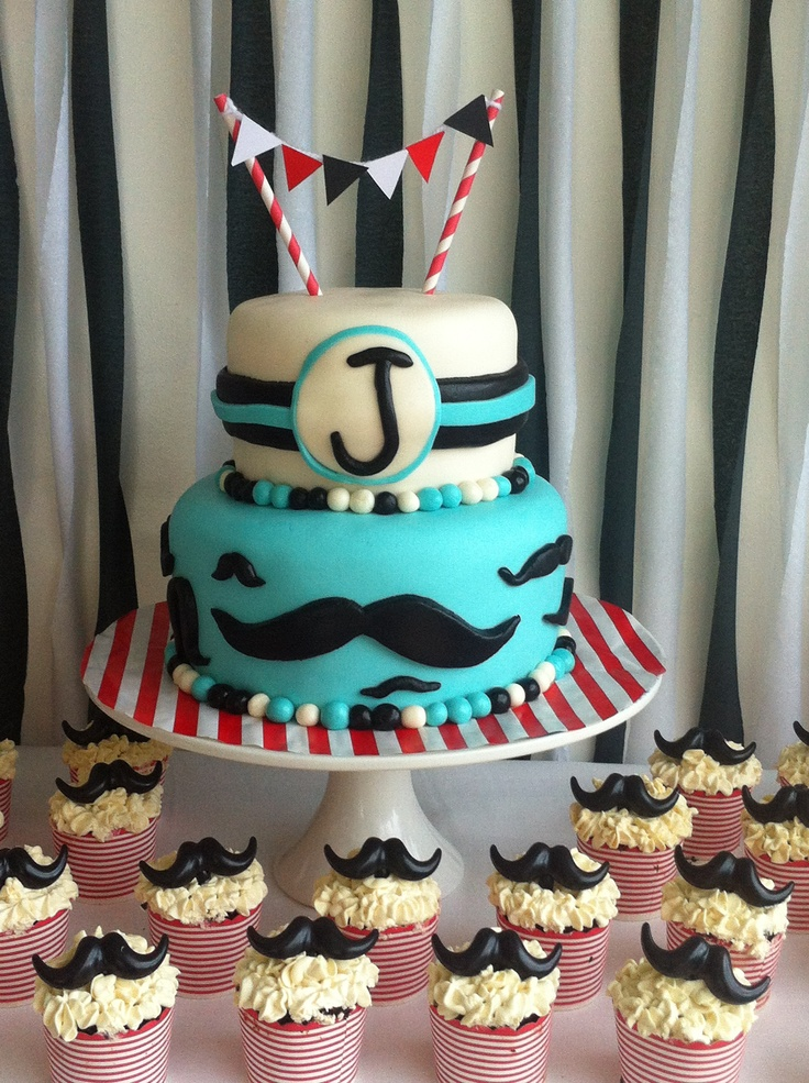 Little Man Mustache Cake By The Sweet Tooth Fairy