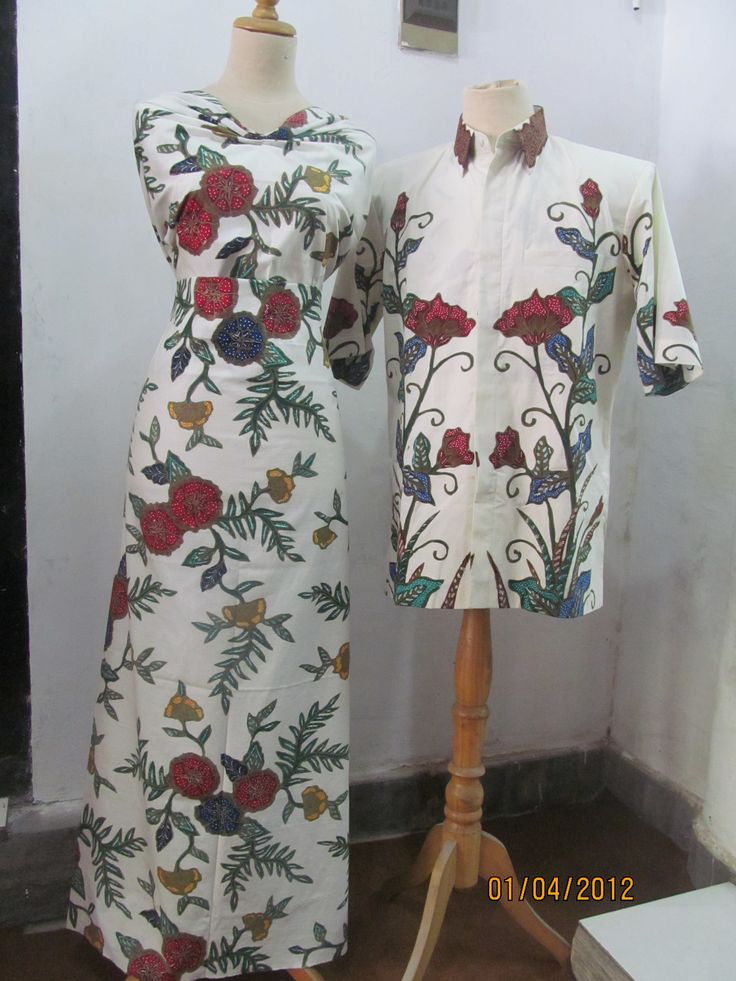 couple of batik dresses