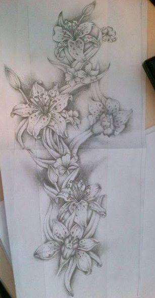 Flower full sleeve tattoo design by tattoosuzette on deviantART