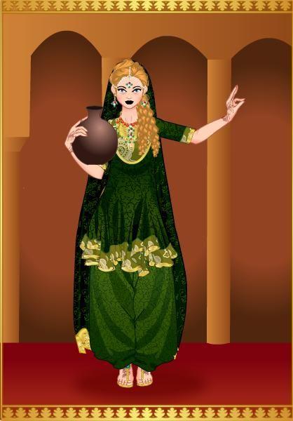 Princesa Janys en traje Indu