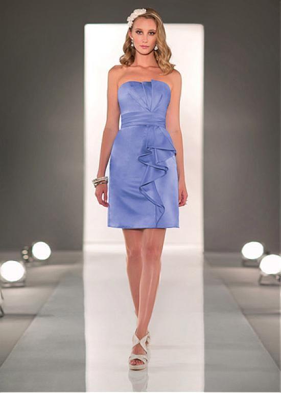 Fabulous Satin Strapless Neckline Knee-length Sheath Homecoming Dress
