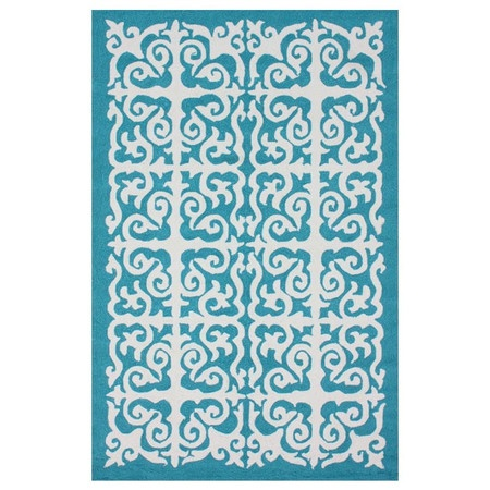 I pinned this Helen Indoor/Outdoor 5' x 8' Rug in Aqua from the Indoor/Outdoor Rugs Under $200 event at Joss and Main!