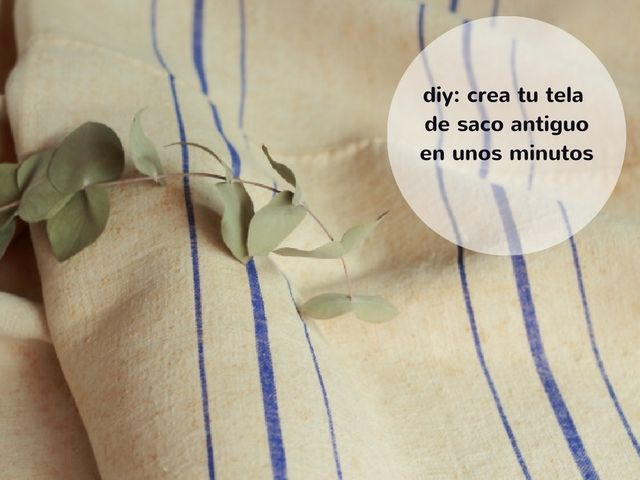 Lo sé, eso de fabricar antigüedadesestá feo, pero si las telas son mi debilidad, y los sacos de harina una de mis devociones, lo único que necesitaba era juntar los materiales.  Hoy te voy a mostrar cómo he podido reproducir, creo que con bastante fidelidad, el efecto de las líneas típicas de los sacos de harina