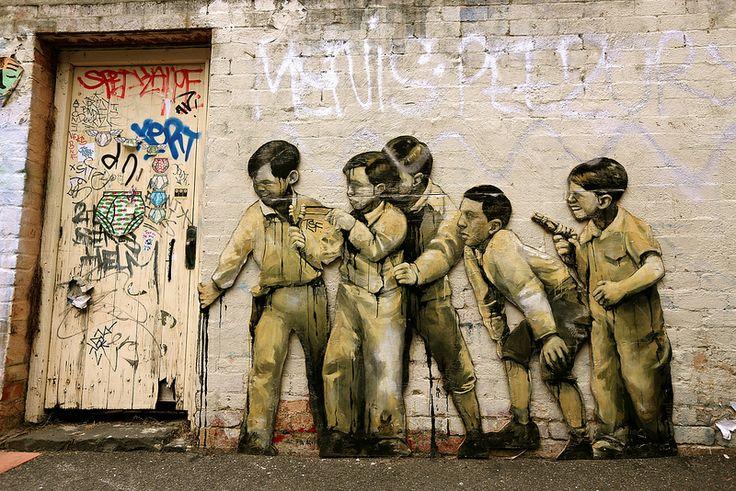 Street Art, by American Artist Taylor White - Fitzroy Melbourne Australia