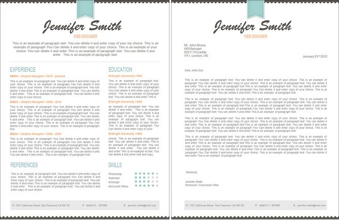 Modern Resume Template - 110490 Premium line of Resume \ Cover - resume template for mac free