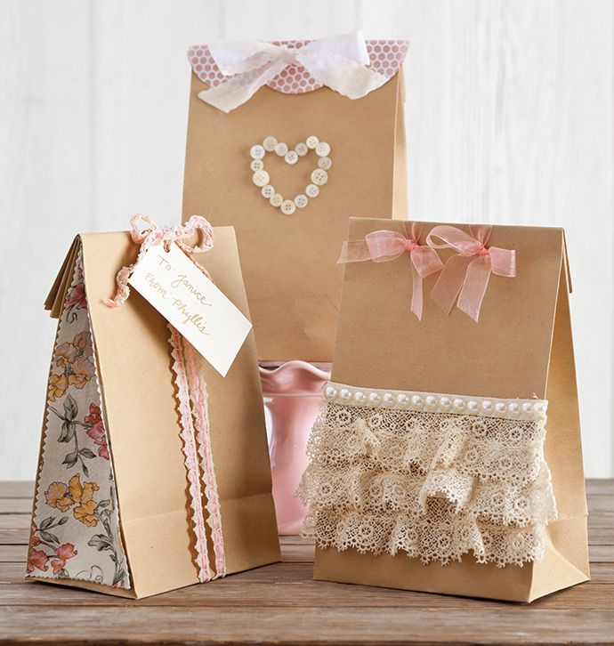 Valentine's Day Gift Bags - recycle those scraps to make something beautiful & unique.