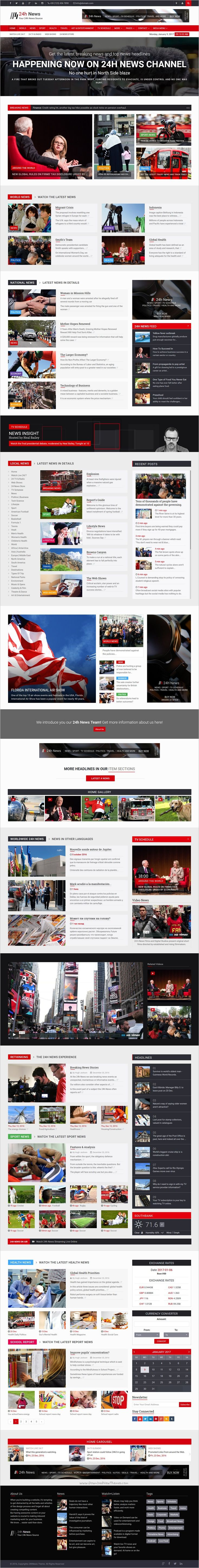 24h News is a professionally design responsive #HTML template for #Broadcast #News #TV Channel, TV News, Newspaper, or News Magazine website download now➩ https://themeforest.net/item/24h-news-broadcast-news-tv-channel-news-magazine-template/18614179?ref=Datasata