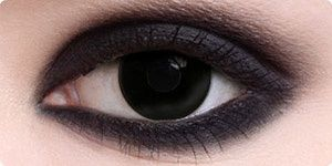 Black out contacts with black eyeliner