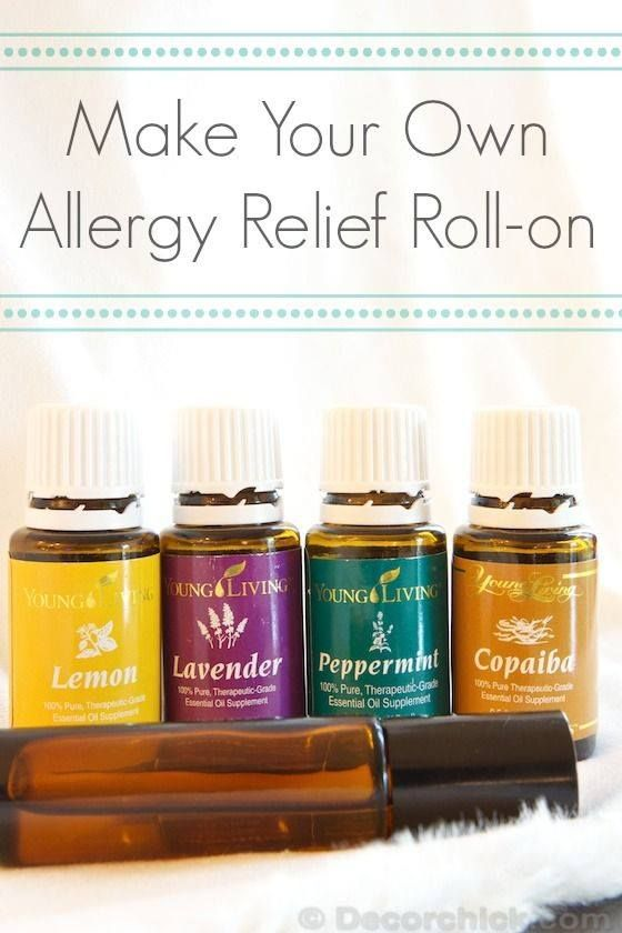 """20 drops each lemon, lavender, peppermint, and copaiba, plus an equal amount of carrier (V-6, olive oil, etc), in a roll on. Applied to the back of the neck and feet! Lemon, Lavender, and Peppermint are known as the """"allergy trio"""" and are included in the Premium Kit Copaiba is known to enhance the effects of other oils, which is why I love the idea of it in this blend! It also is anti-inflammatory and has respiratory benefits, among others. www.fb.com/HealingLotusAromatherapy"""