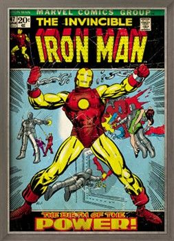 Marvel Comics Retro: The Invincible Iron Man Comic Book Cover No.47, Breaking Through Chains (aged) Print at Art.com