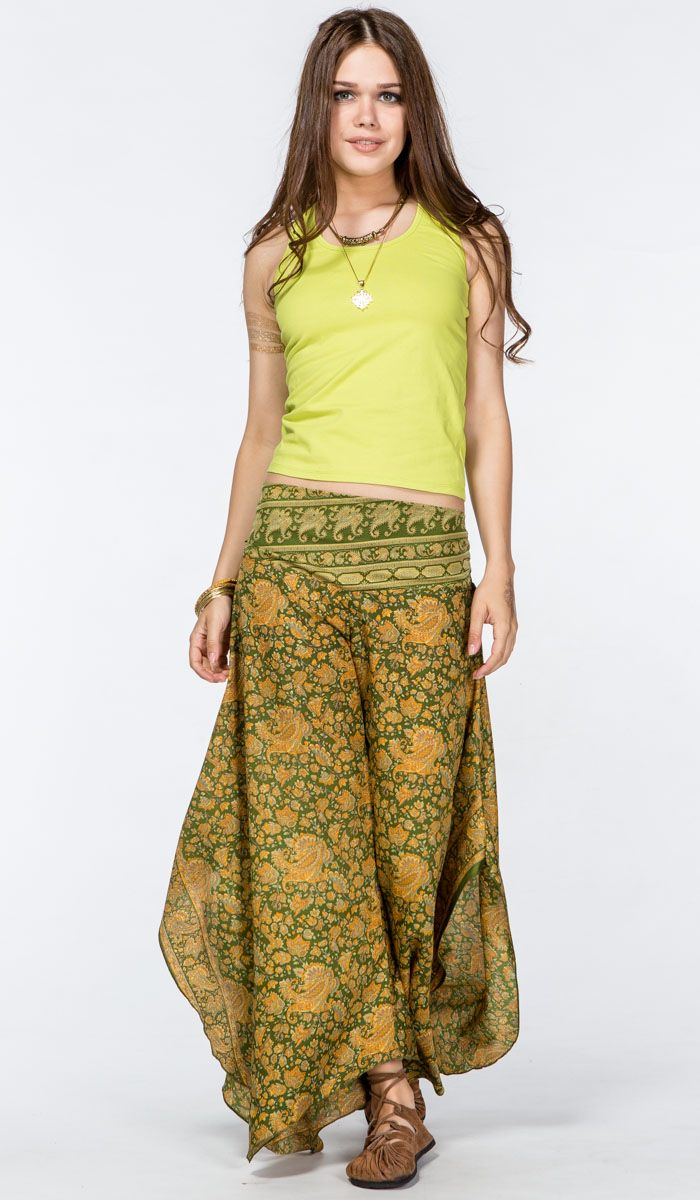 http://indiastyle.ru/products/shtany-iz-shelka-dzhayanti Штаны из шелка, юбка-брюки, свободные шелковые штаны. silk indian pants. 2340 рублей