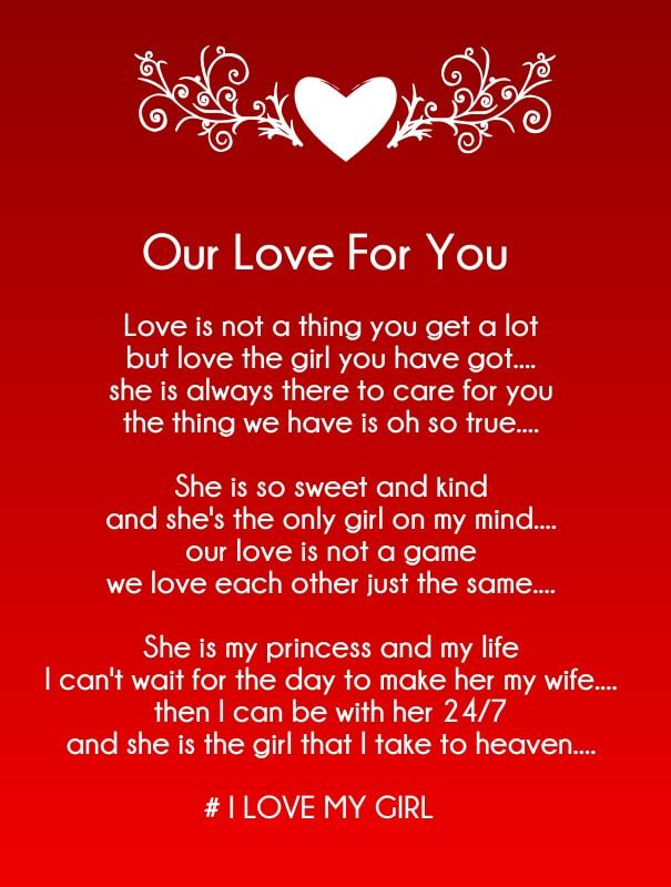 Romantic Love Poems 15 Rhyming Love Poems For Her Cute And