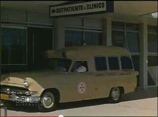 Sydney Ambulance service  park at outpatients, 1966. v@e.