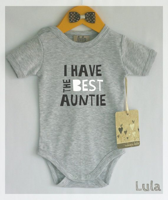 I have the best auntie baby bodysuit. Best aunt by HandmadeByLula