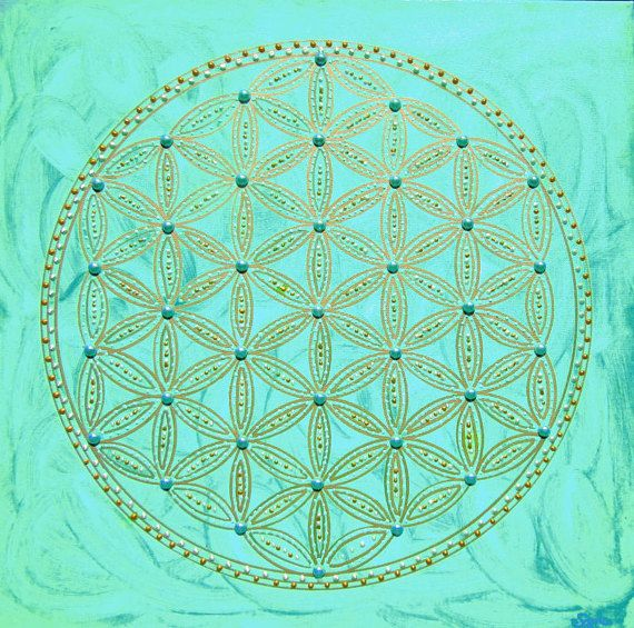 Blume des Lebens heilige Geometrie Mandala Symbol von Bezauberndes