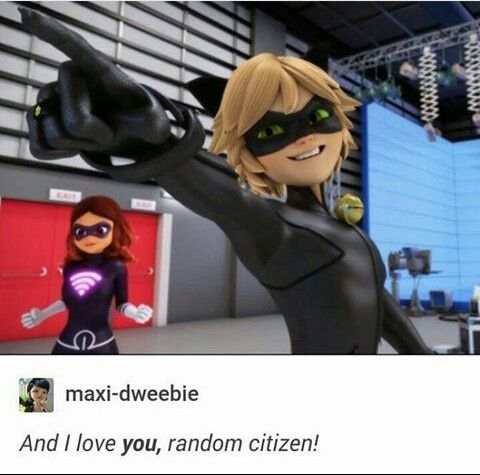 And I love you Random citizen ! Chat Noir