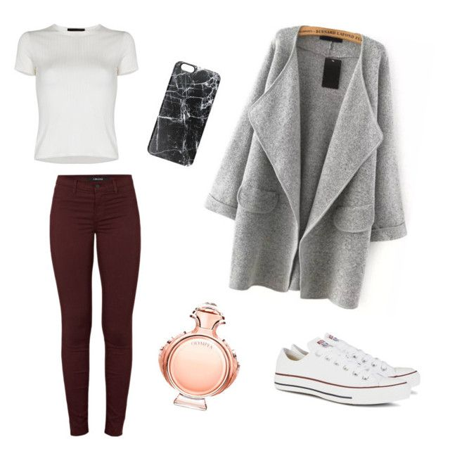 """""""Untitled #2"""" by nolwennbrc on Polyvore featuring J Brand, Converse, Paco Rabanne, Casetify, women's clothing, women, female, woman, misses and juniors"""