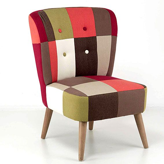 Sillon Vintage Patchwork Slought   Material: Madera Tropical