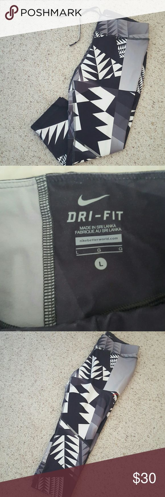 Nike N7 Capris Sz L. N7 nike Capris. Exc condition Nike Pants Leggings