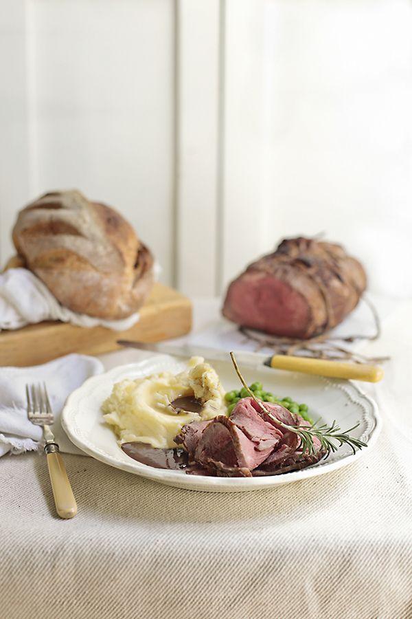 Receta de roast beef con salsa gravy