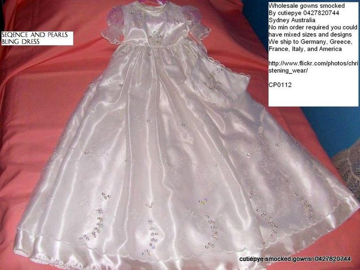 Handmade Christening Gowns With Pearls And Sequence By Cutiepye 0427820744 Photo:  This Photo was uploaded by elitechristening. Find other Handmade Chris...