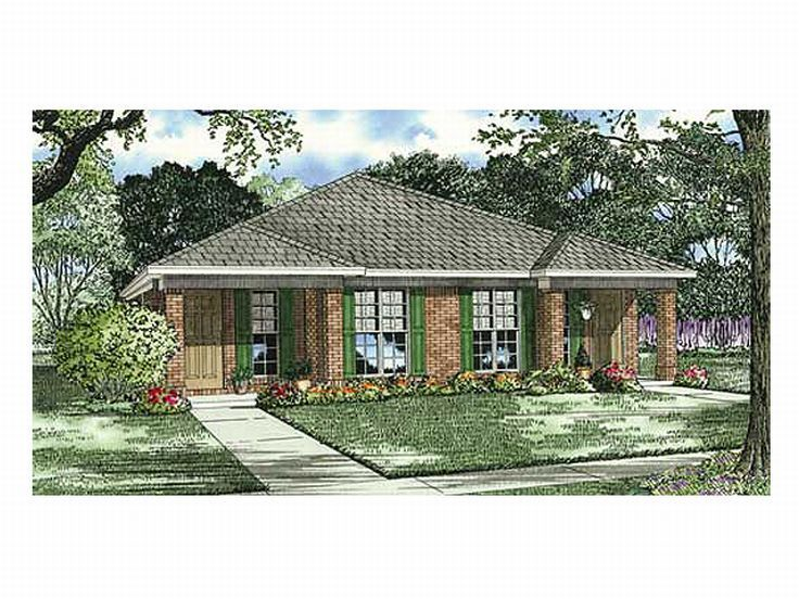 58 best multi family house plans images on pinterest for Narrow lot multi family house plans