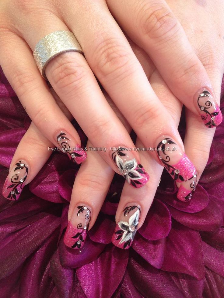 Free Hand Nail Art | Salon Nail Art Photo By Elaine Moore@ eye candy. | Eye Candy Nails ...