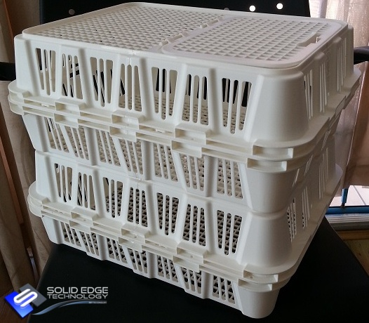 Chicken Crate Prototype. 3D Printed by Solid Edge Technology.
