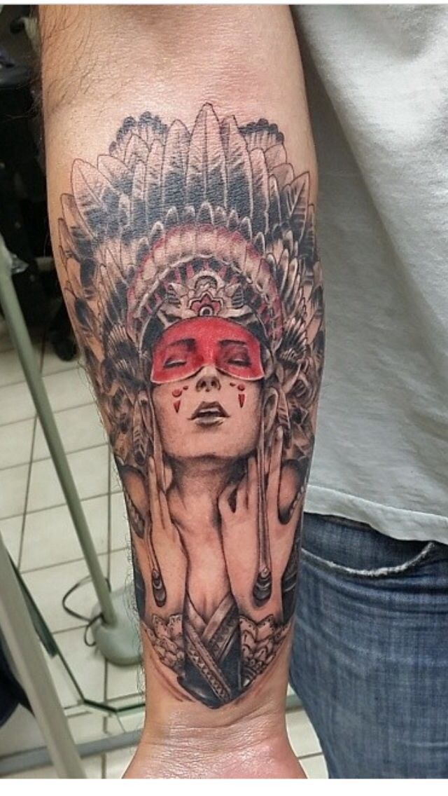 Native american girl tattoo my new addition it took only for My tattoo girls
