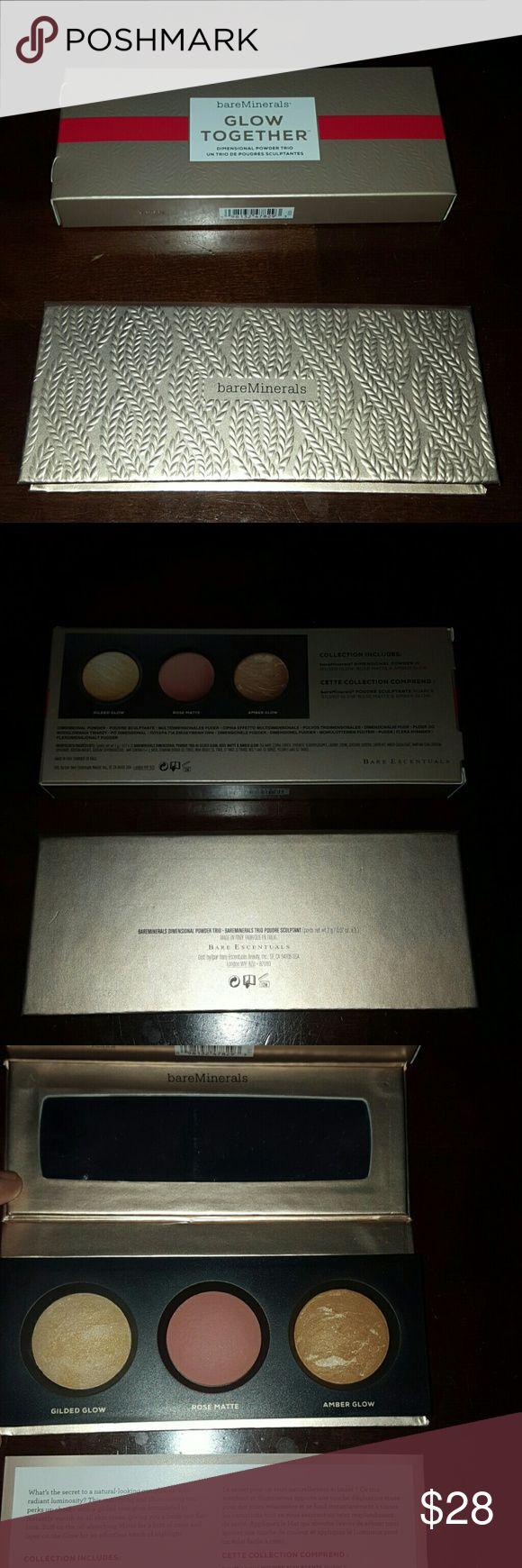1 hr sale Authentic Bare minerals glow together No trades! Gently swatched bareMinerals Makeup