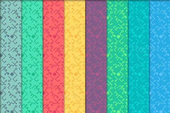 High Tech Seamless Print Patterns by barsrsind on @creativemarket