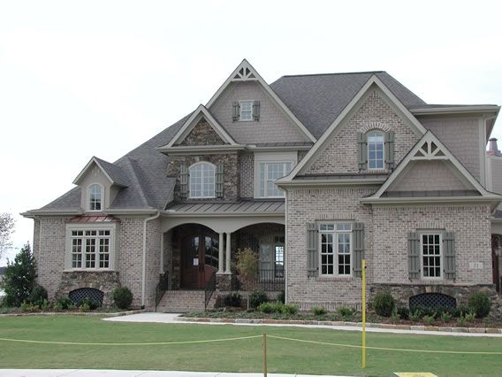 Best 25 brick and stone ideas on pinterest brick home - Pictures of exterior shutters on homes ...