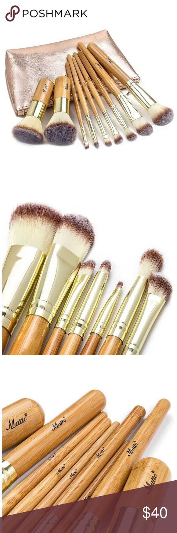 ⚡️FLASH SALE⚡️ Matto Bamboo Makeup Set •Ultra soft, dense and smooth synthetic bristles: 100% cruelty-free. Non-porous synthetic bristles do not trap or absorb products and bacteria. Easy to clean and maintain. •Natural bamboo handles. •9pc brushes - Each brush bristles are hand-cut to the perfect shape, allowing for precise application from dense coverage to a soft, delicate finish. FREE BONUS: shiny and cute brush bag! 🚫 No Trades 🚫 No Lowball Offers Please ✔️ Reasonable Offers on…
