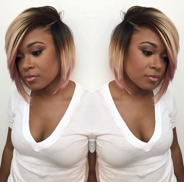 Brown to blond to pink ombre... love