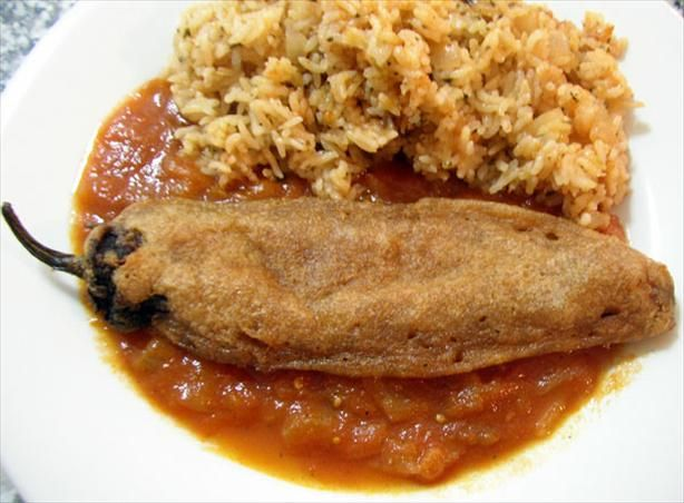 Chiles Rellenos in Tomato Broth from Food.com:   This recipe is by Rick Bayless and are the best chiles rellenos on the planet.