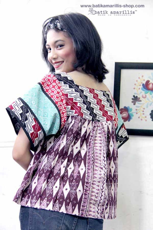 Batik Amarillis made in Indonesia proudly presents ...Frida blouse with the twist! This magnificent Mexican traditional inspired blouse is super pretty & comfy with its bold & beautiful style . Armed with charming and playful batik patchwork which make this is so unique and special!