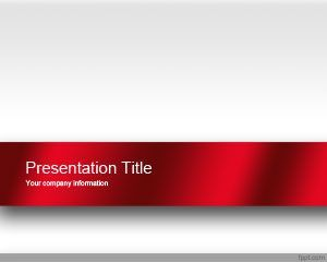 Professional PowerPoint Presentation Template with red and white color