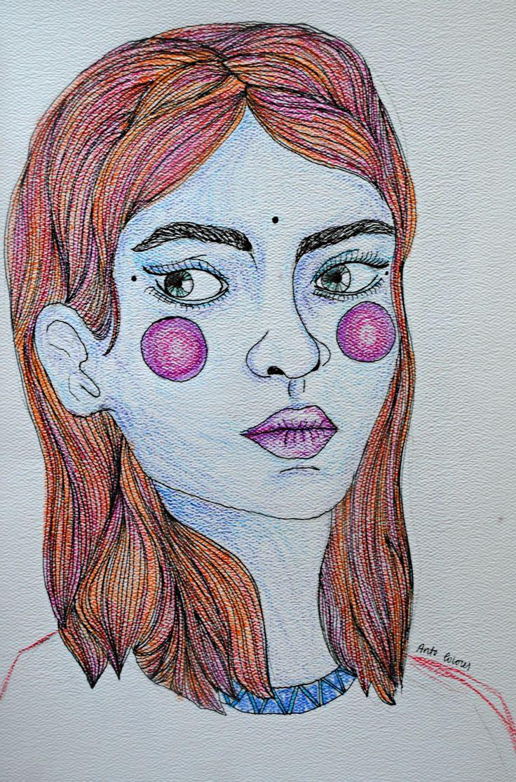 María.   #ilustracion #ilustration #color #art
