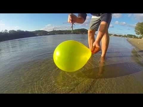 Ballooning - Slow Motion Water Balloon Popping Movie (GoPro3) ANDREW MCGILL EMMA HILTON