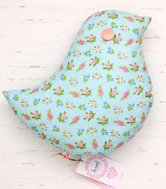Bird Pillow for Nursery Decor by deconoHut on Etsy
