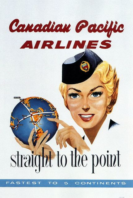 Canadian Pacific Airlines 'Straight to the Point' 1950's: my uncle flew for them for many years