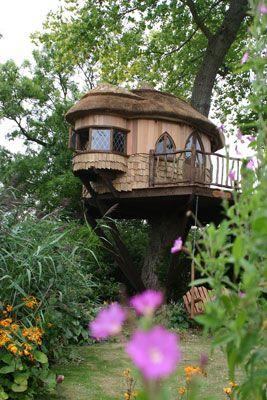 Cottagey tree yurt.