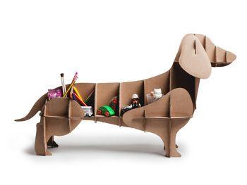 'Dachshund' Cardboard Dog Storage