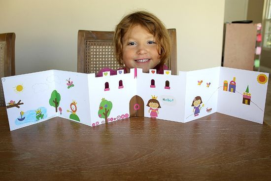 Handmade book ideas. Love the castle for Fairy Tale writing.