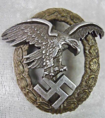 Lot # : 310 - WWII German Luftwaffe Observer Badge www.jjamesauctions.com