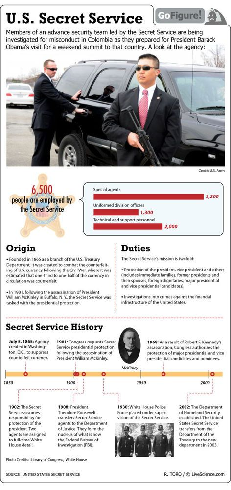 The Real Men in Black: Secret Service Agents (Infographic)
