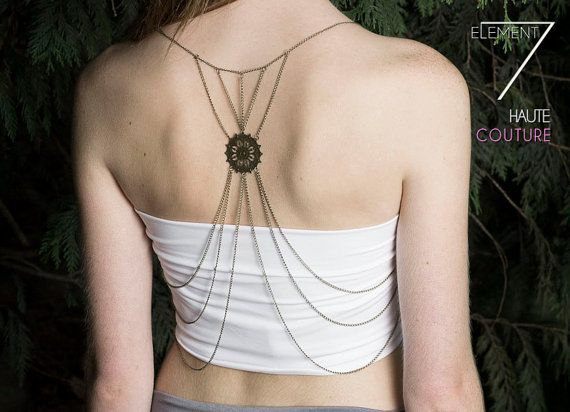 Lustopia Body Chain Jewelry Back Chain Jewelry by Element7Style