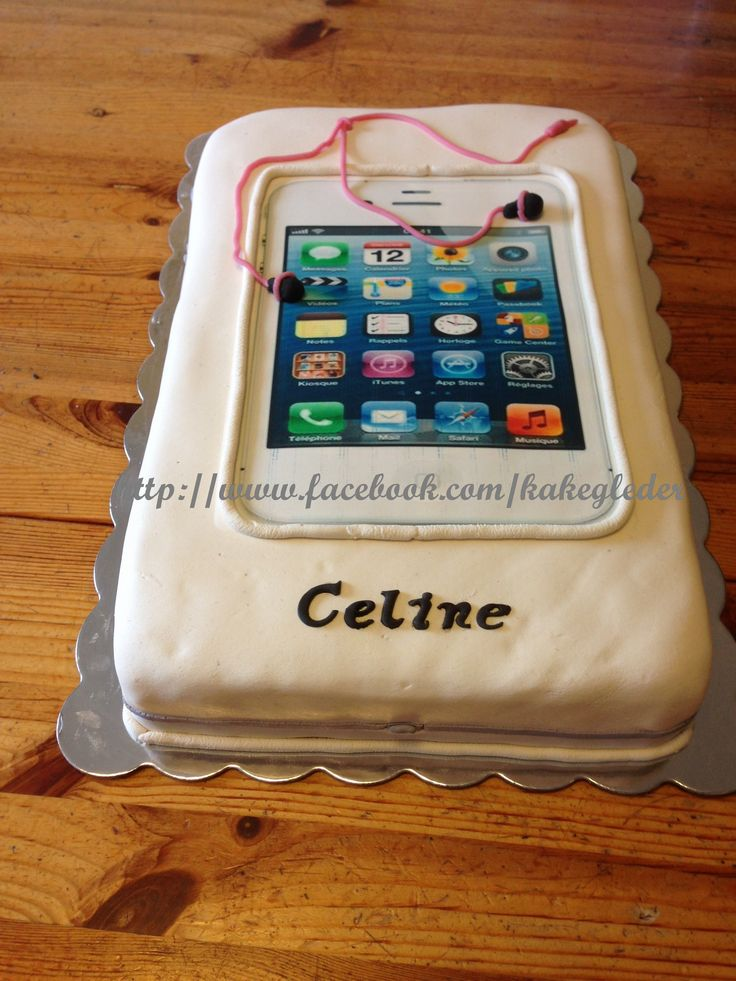 Iphone kake. Konfirmasjon.