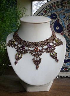 """Schéma du collier """"Reine de Saba"""" de La Bijoutisse"""