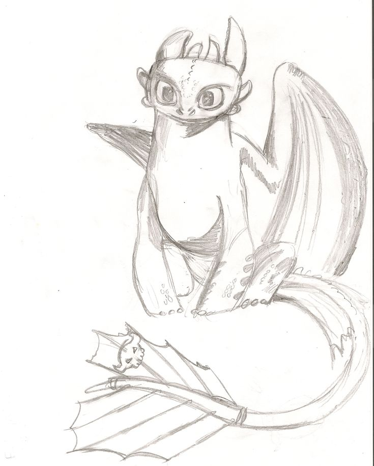 Shaded toothless sketch